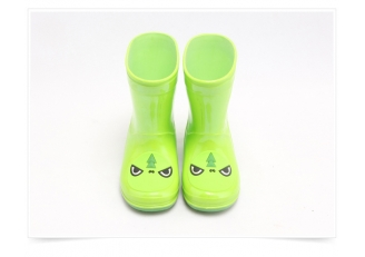 China KRB-003 green fashion coloful pvc rain boots for kids factory