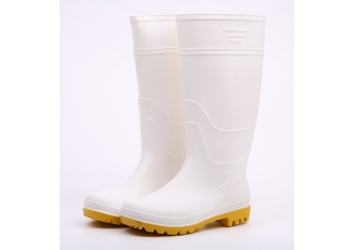 China KWYN food industry white pvc rain boots factory