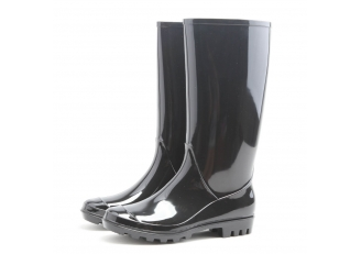 China PL-011 black non safety women rain boots factory