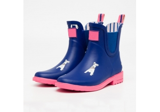 China RB-002 beautiful fashion rubber rain boots for women factory