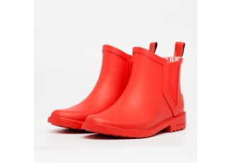China RB-003 ankle high red fashion ladies rubber rain boots factory