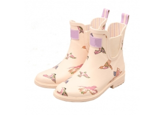 China RB-005 Unique style ankle rubber rain boots for ladies factory