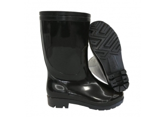 China SQ-01 very cheap 1.5 dollar black pvc glitter rain boot work factory