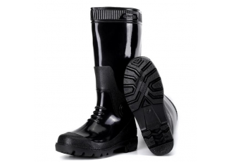 SQ-809B knee-high water proof men pvc glitter rain boots for work