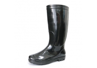 China SQ-BB Cheap black pvc glitter rain gumboots for work factory