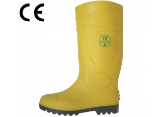 China YBS yellow waterproof pvc welllington rain boots factory